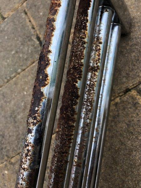 Old chrome radiator